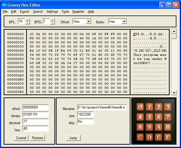 hex editor using windows color scheme